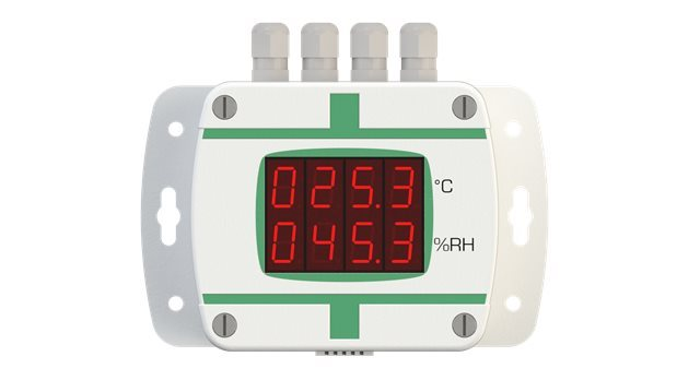 SYNCHRO SRL T+RH Transmitter with RS485 Connector, External Sensor & Digital Display