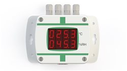 TX-E-TRH-M-D - T+RH transmitter with digital display, external sensor, RS-485 communication and analogic output