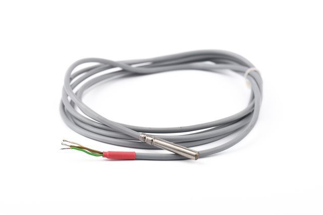 SYNCHRO SRL Simple PT100 Thermoresistence with 8 mm Stem Diameter, 150 mm Stem Length, and 2 m Cable
