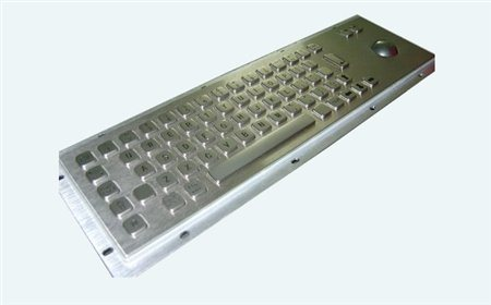 Altii Metal keyboard with optical trackball